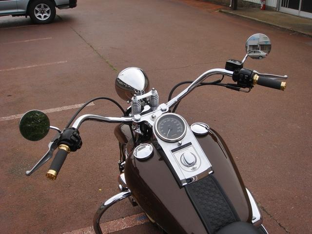 2003FLSTSグリップ・ホーン交換12