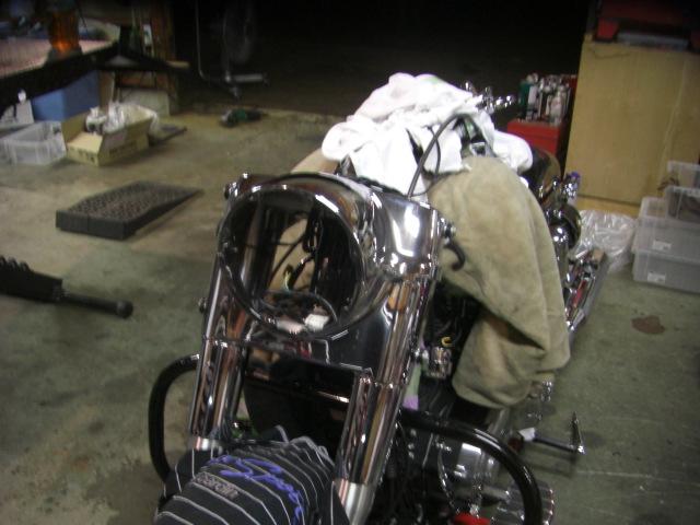 2012FLD ローダウン エアクリーナー ハンドル HIDヘッドライト2