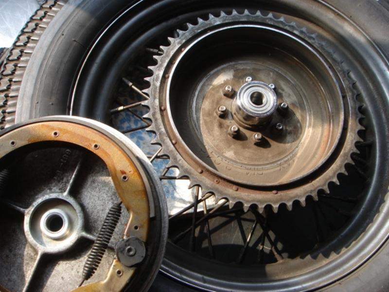 1969アイアンスポーツスターリジッド 車体リビルド5