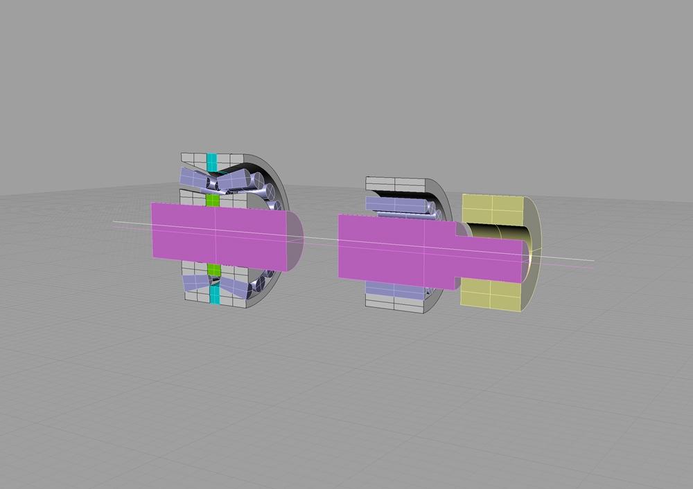 ショベルヘッドクランクシャフトクリアランス断面図1