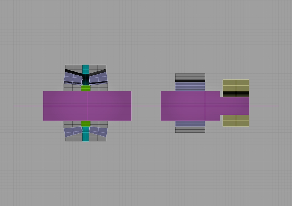 ショベルヘッドクランクシャフトクリアランス断面図2