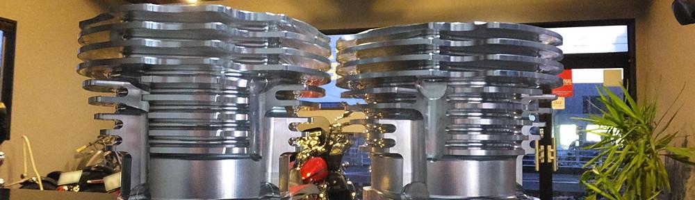 ショベル用アルミビレットビッグボアシリンダー キャリロ鍛造ピストン2