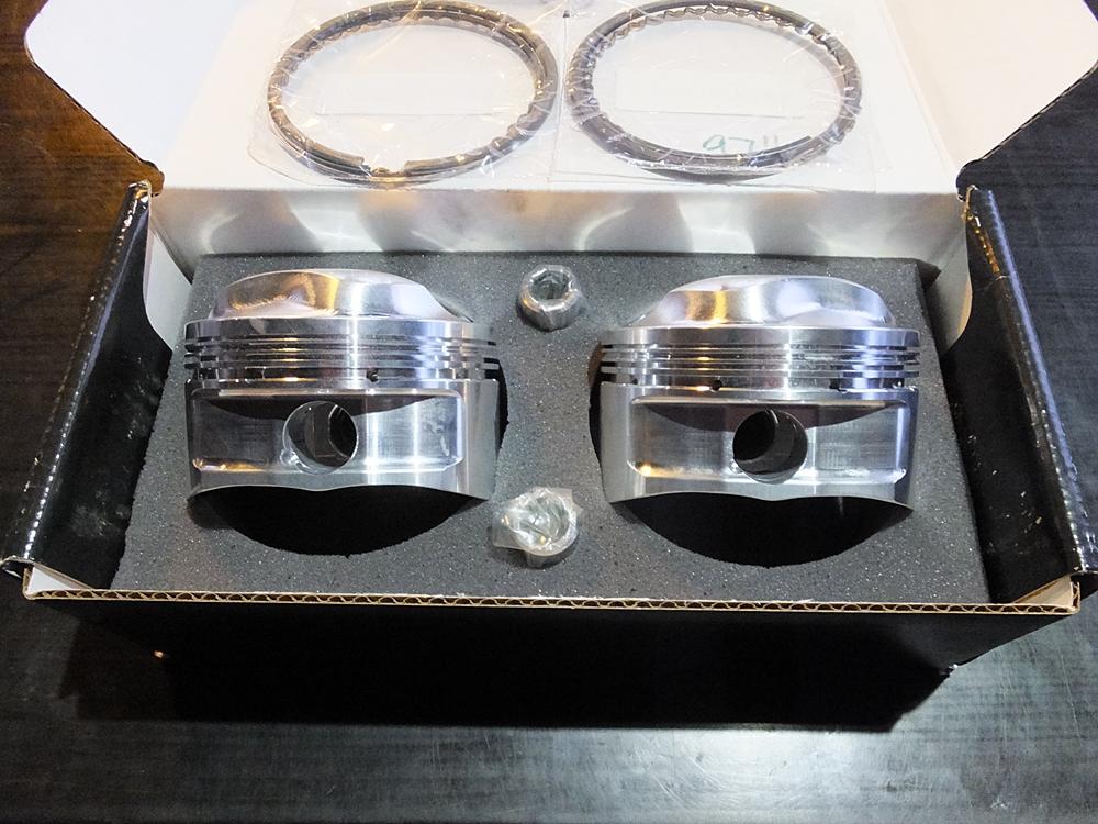 ショベル用アルミビレットビッグボアシリンダー キャリロ鍛造ピストン6