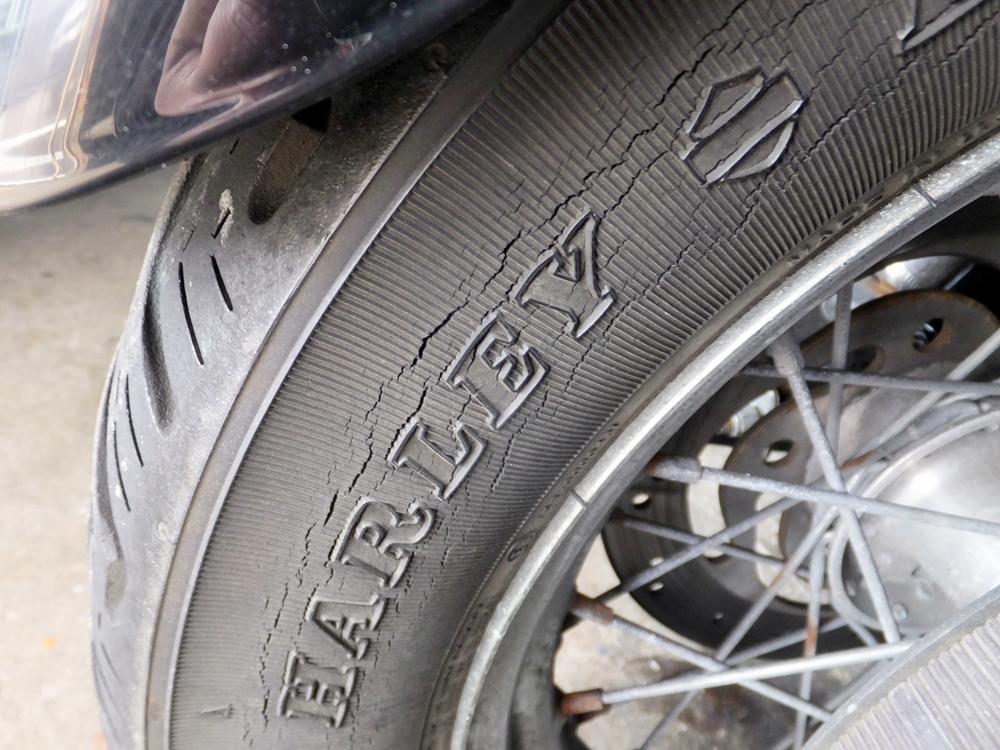2003XL883H タイヤ・ネックベアリング交換 フロントフォークオーバーホール10