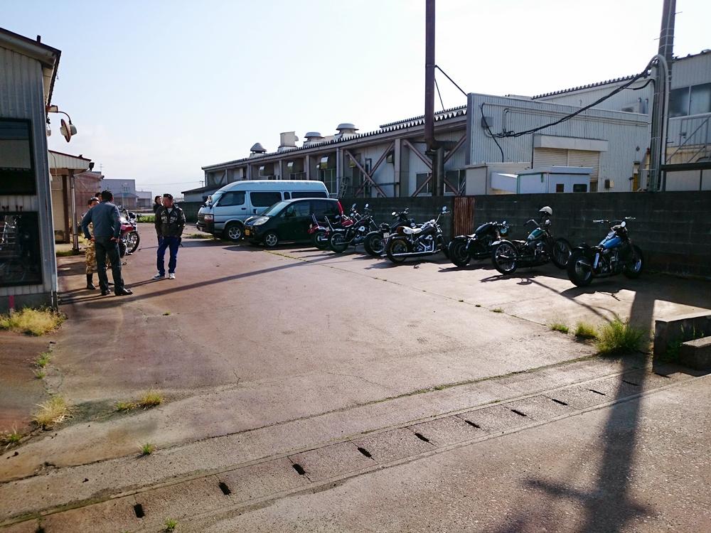 2016.05.08 新潟のカスタムハーレーで朝ツーリング1