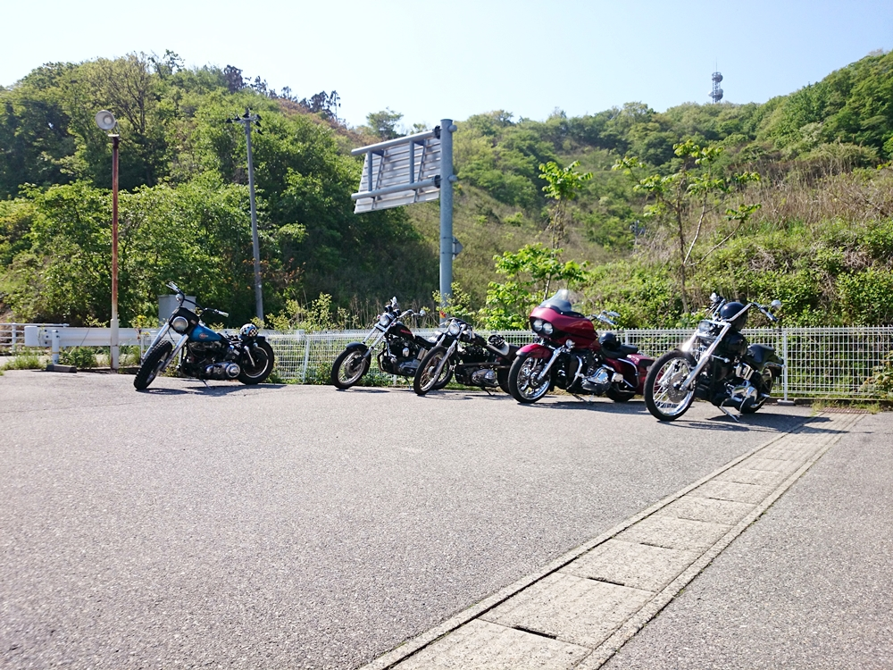 2016.05.08 新潟のカスタムハーレーで朝ツーリング7
