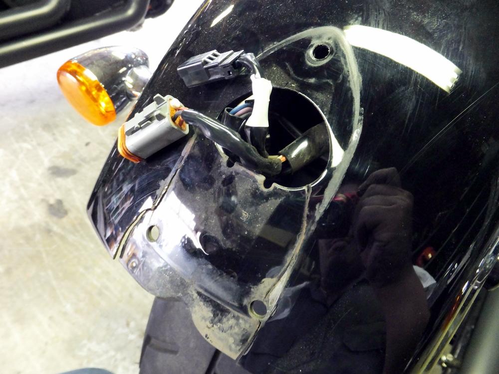 2011FXDB 車検・オイル交換・リアフェンダー修理5
