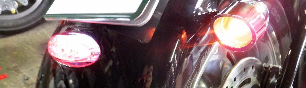 2010FXSTC テールライト ウインカー 配線修理10