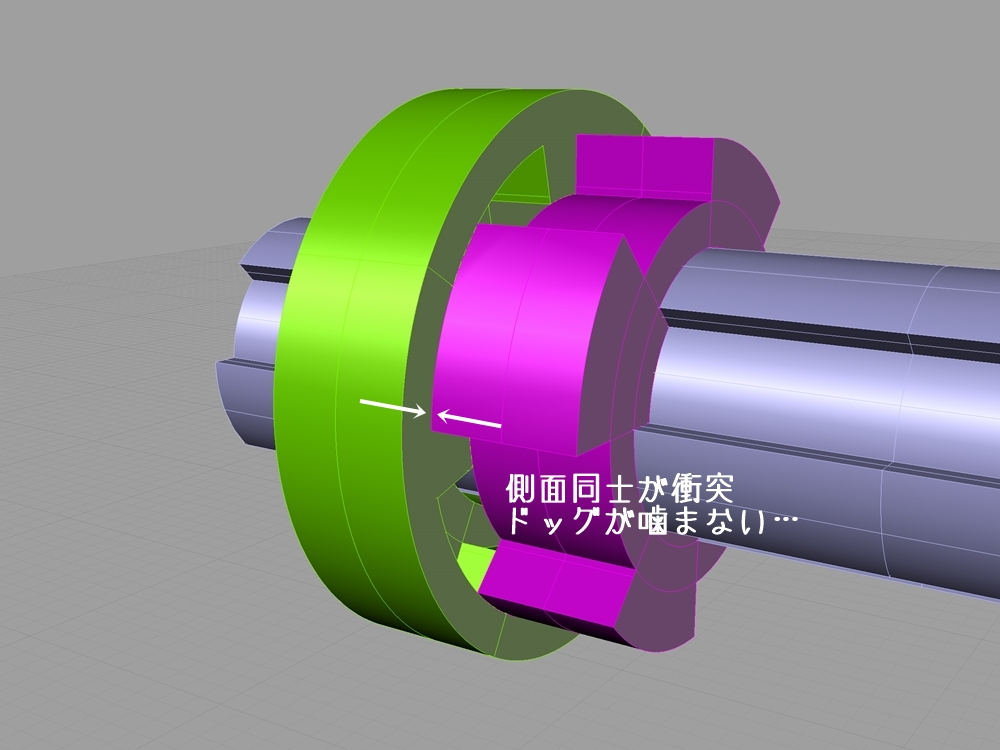 ショベルヘッド 4速トランスミッション シフトの構造4