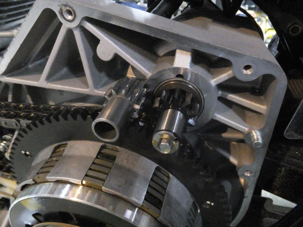 2005FXDC スターターリングギア破損 セルスターター セルモーター 空転 修理7